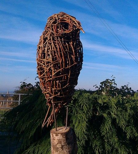 Willow Owl by Victoria Westaway, these affordable sculptures work well on posts or on the ground and some customers have even displayed them indoors amongst their collection of books.