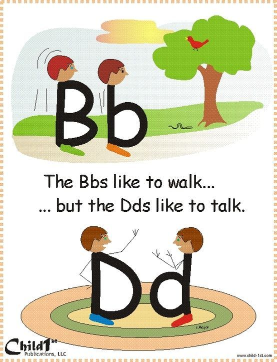 """Good way to teach how to differentiate between """"b"""" and """"d"""" Very Clever! - in-the-corner"""