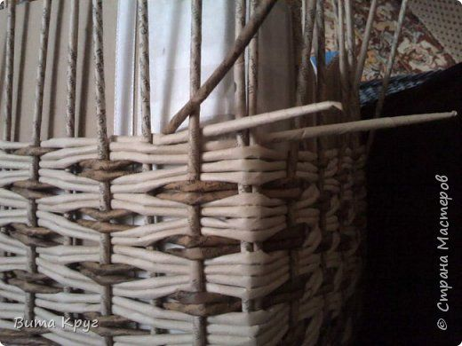 Мастер-класс Плетение Узор ВиТТаС -  Бумага газетная Трубочки бумажные фото 26