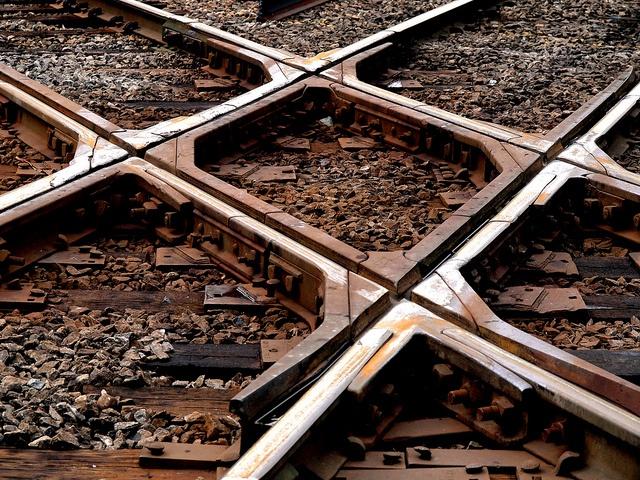 Cross tracks.: Photo