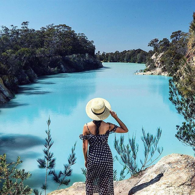One of the most memorable places we visited, just 2hours drive from Launceston, Tasmania is the 'The Little Blue Lake' (South Mt. Cameron). Originally a mine hole, the lake reflects a vivid aqua blue from the minerals in its base.  The day we went there was perfect and the lake was as brilliant blue as you see in the photo. Makes you wonder just how many more hidden gems there are in Australia's very own backyard! @vodafoneau #roamingon #mybestintravel
