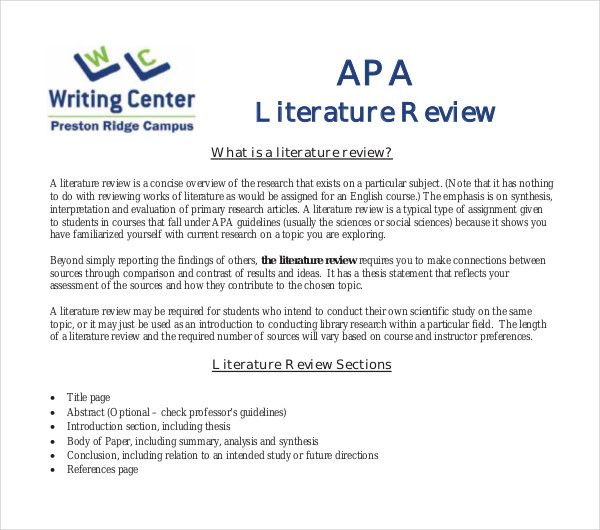 Best 3 Literature Review Template Format Pdf Example You Calendar Outline Essay Writing Skill Dissertation Motivation Titles Title
