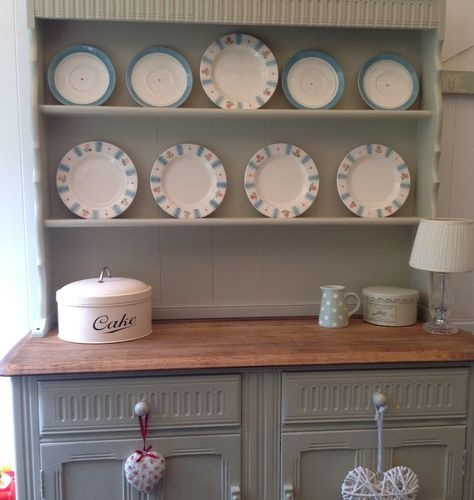 Shabby chic ercol welsh dresser  vintage  solid wood  F and B old white. 1000  images about Welsh dressers on Pinterest   Solid pine