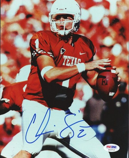 Chris Simms Autographed 8x10 Photo University of Texas PSA/DNA
