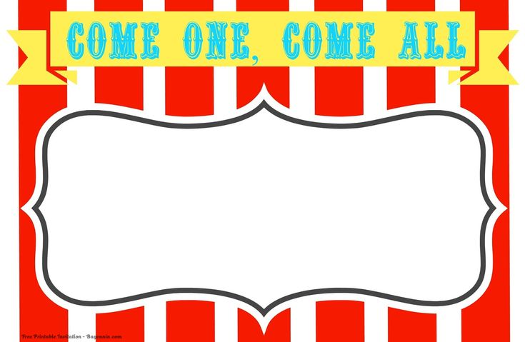 Free Free Printable Circus Birthday Invitations Template