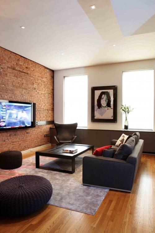 die 19 besten bilder zu living room auf pinterest | ideen zur ... - Unbehandelte Ziegelwand
