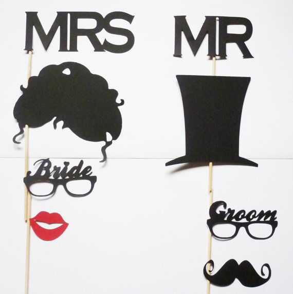 MR  MRS  Photo Booth Props Bride and Groom by itrhymeswithorange, $20.00Props Brides, Photo Booth Props, Brides Grooms, Photos Booths Props, Photo Booths, Hats Hair, Grooms Sets, Photos Props, Bridegroom Photos