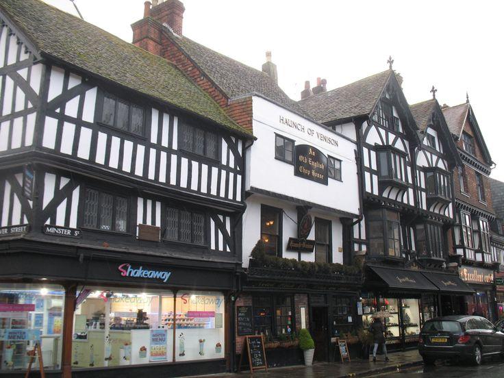 Prachtige vakwerkhuizen in de oude binnenstad van Salisbury.