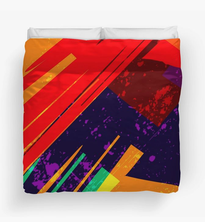 """Abstract and warm """"Deconstruction"""" Duvet Cover by Steel Graphics"""