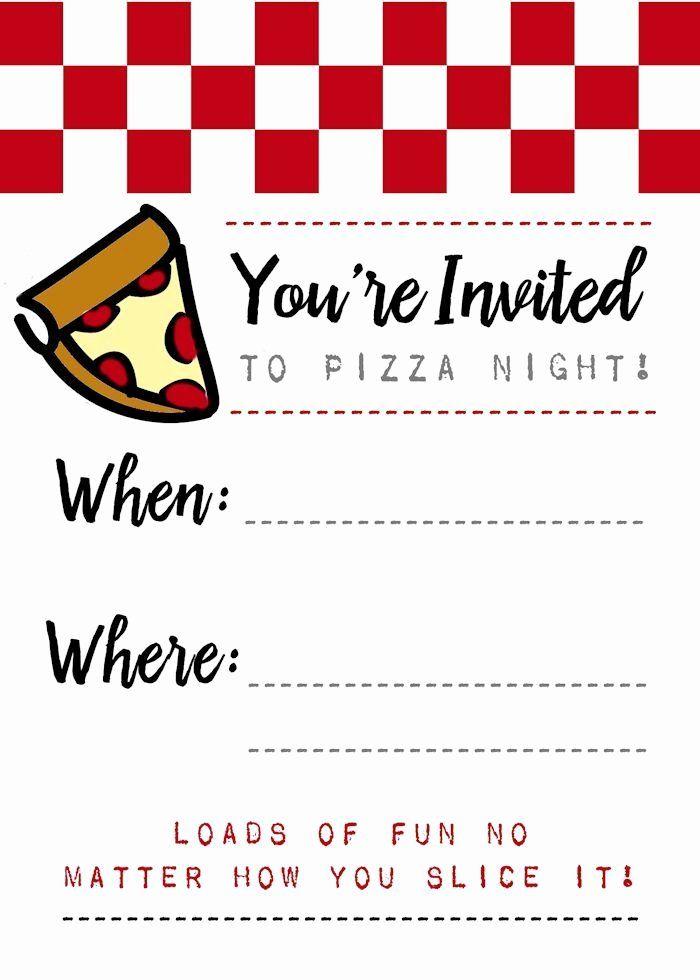 Pizza Party Invitation Template Word Fresh Pizza Night Invites Papa John S Printables Pizza Party Invitations Pizza Party Party Invite Template