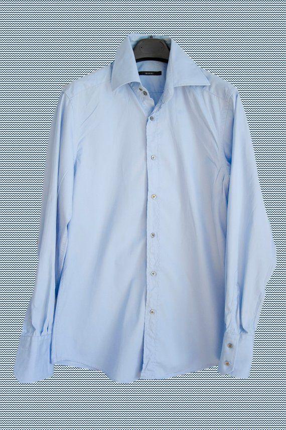 e88de78c Gucci Classic Mens Longsleeve Light Blue Dress Shirt Vintage in 2019 |  Vintage clothes | Light blue dress shirt, Blue shirt dress, Light blue  dresses