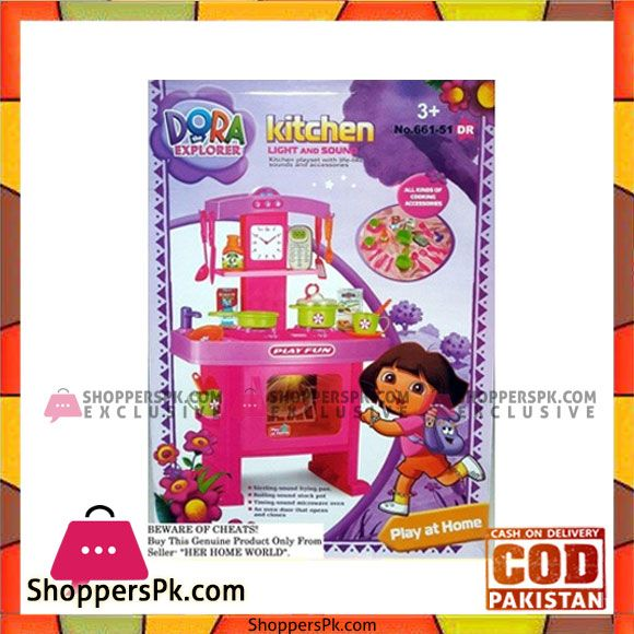 c25a82afe On Sale Now  Dora Kitchen Set Toys with Music and Lights in Pakistan For  More
