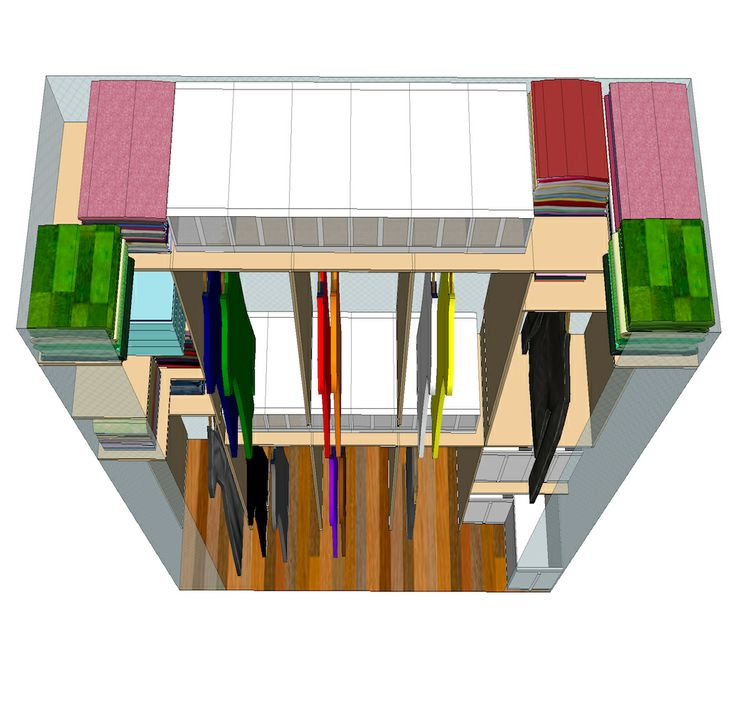 This is my closet design the top view hanging by a for Top view design