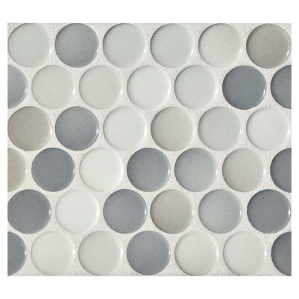 Penny Round Mosaic - Graphite Blend - Gloss