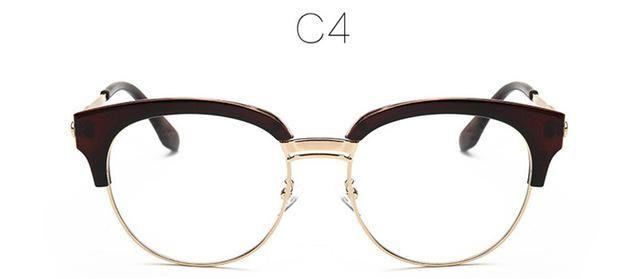 2017 GUVIVI Brand Oversized Glasses frame Men Women Optical Frames Clear Lnes Half Frame Glasses women optical female GY-2222