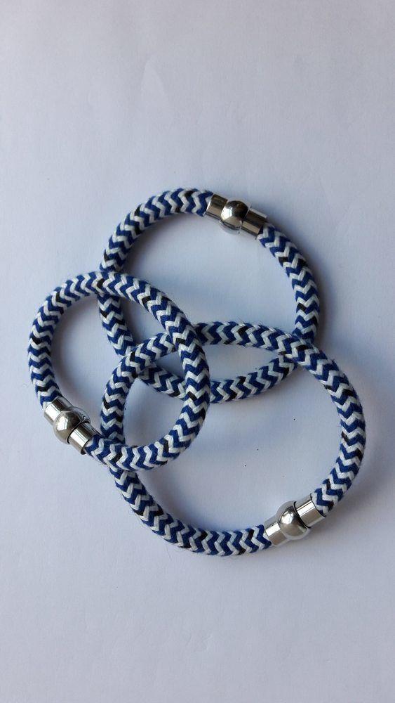 Sailing Rope Bracelet, Magnetic Clasp
