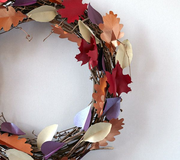 DIY Fall Leaves Wreath by Creativebug. Make It Now in Cricut Design Space