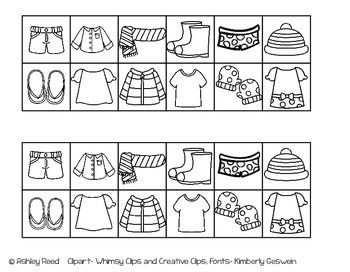 Hot And Cold Weather Clothing Sort Freebie Kindergarten