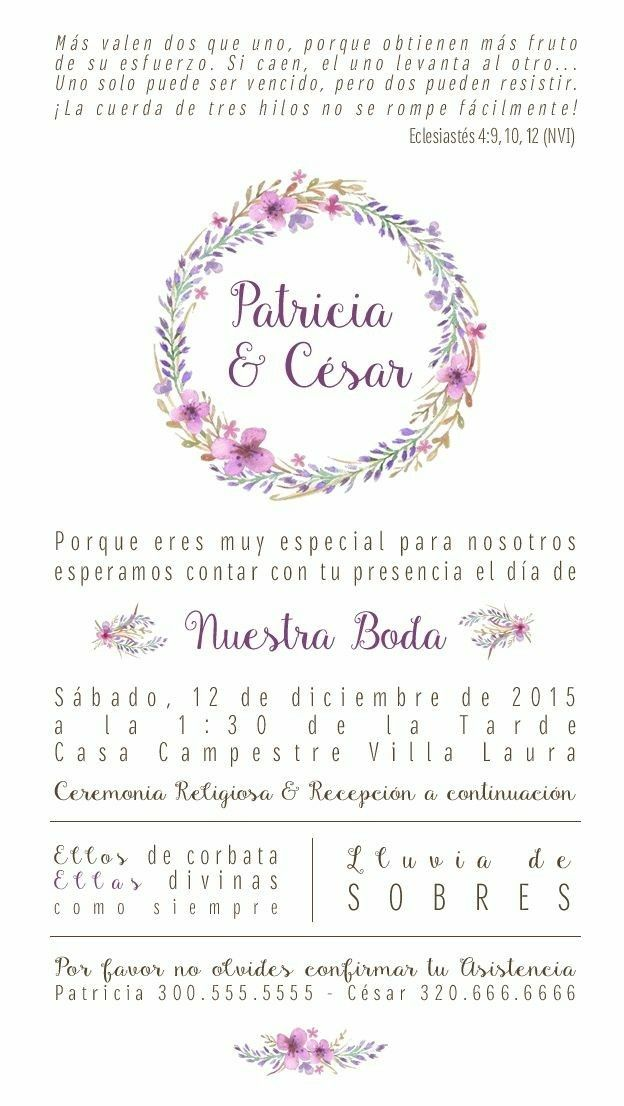 Pin De Lisbeth Belmonte En Tarjetas Invitaciones De Boda