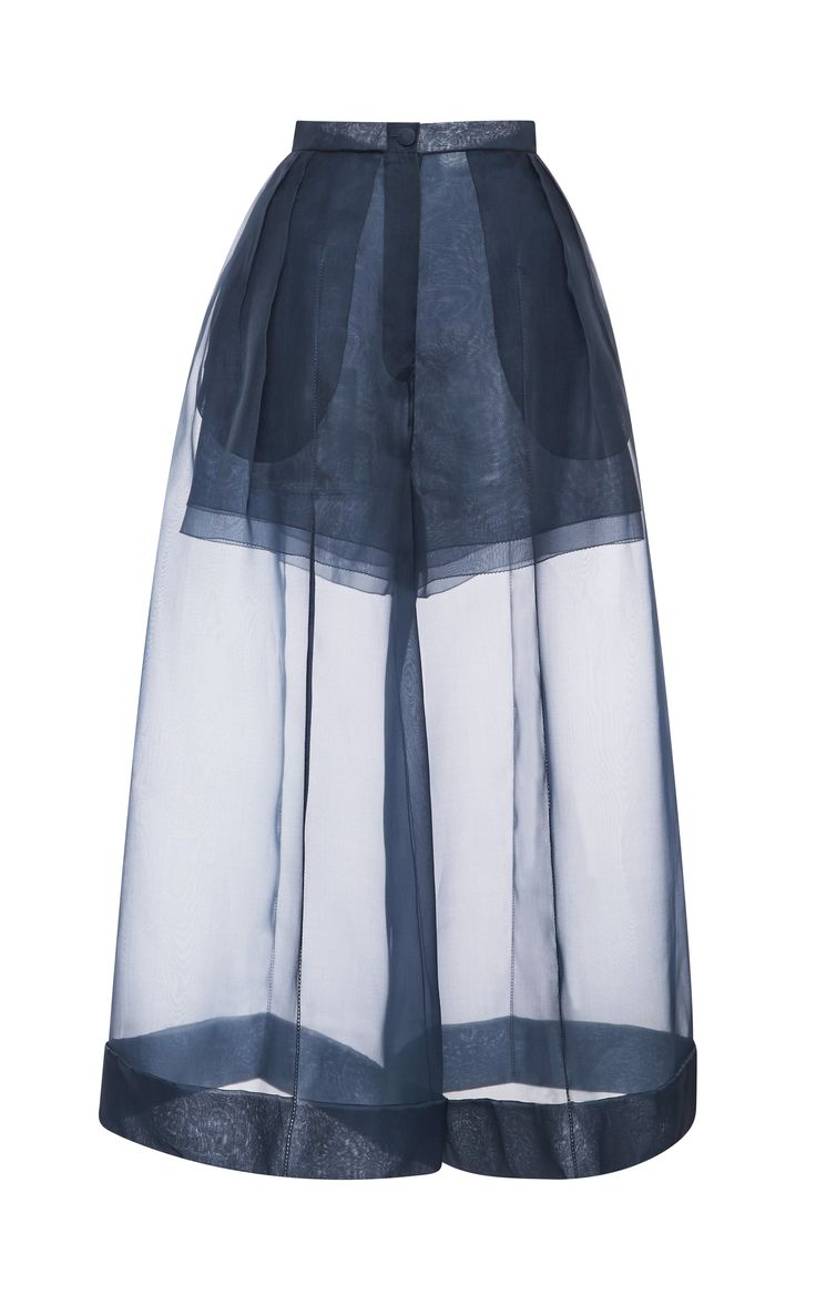 Organza Pant With Side Pleats by DELPOZO for Preorder on Moda Operandi