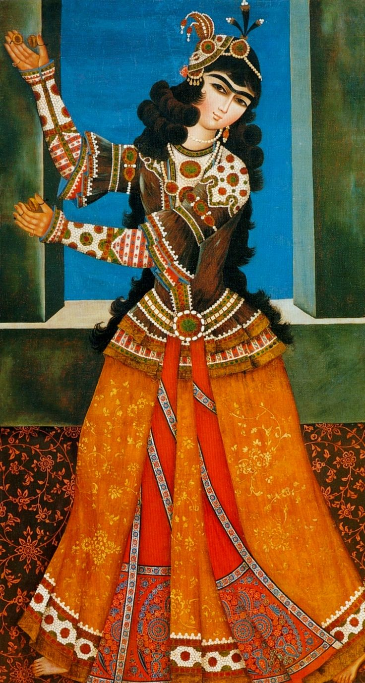 Dancing girl persian miniature hermitage
