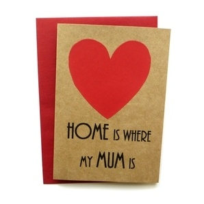 Mothers Day Card - Home is where my MUM is - Handmade Card
