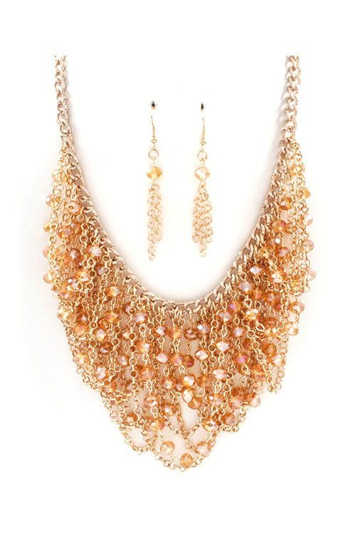 Crystal Sadie Necklace in Champagne