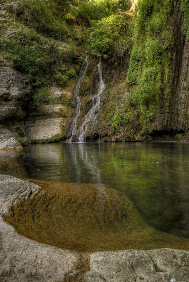 Cisterna Waterfall, Bolognano (Pescara), Majella National Park, Abruzzo, Italy