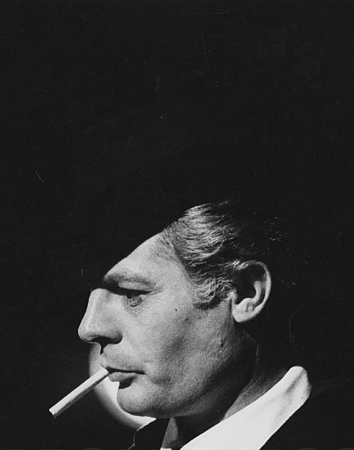 Marcello Mastroianni on the set of 8½, 1963.