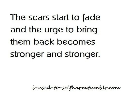 Self Harm. Me right now. I've been clean for months and I've been getting such strong urges lately :( I want to so badly!:
