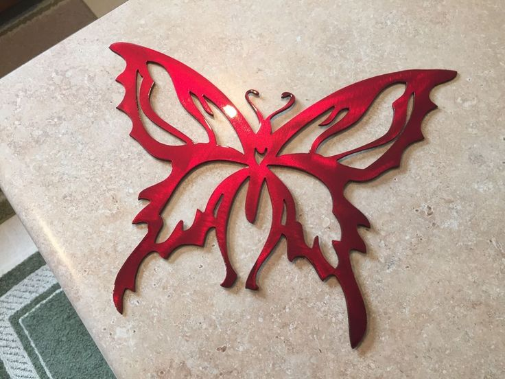 Plasma cut custom painted butterfly style 4 Metal Wall Art Home Decor