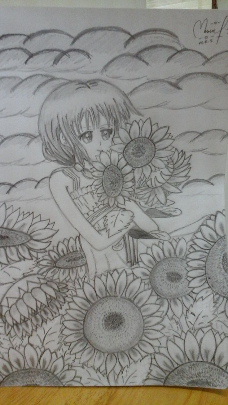 girl at sunflowers park ~