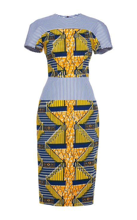 Shop Viola Printed Stretch Wax Dress by Stella Jean for Preorder on Moda Operandi
