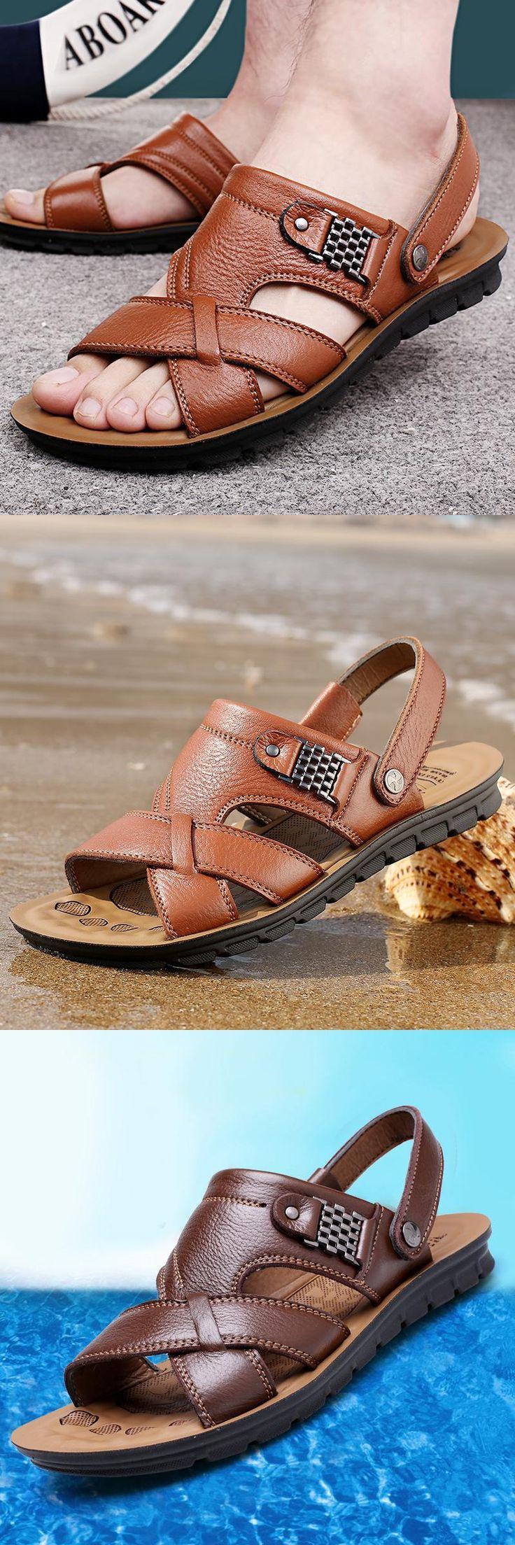 [Visit to Buy] Men shoes 2016 hot fashion sandals men shoes sandalias hombre men flip flops #Advertisement
