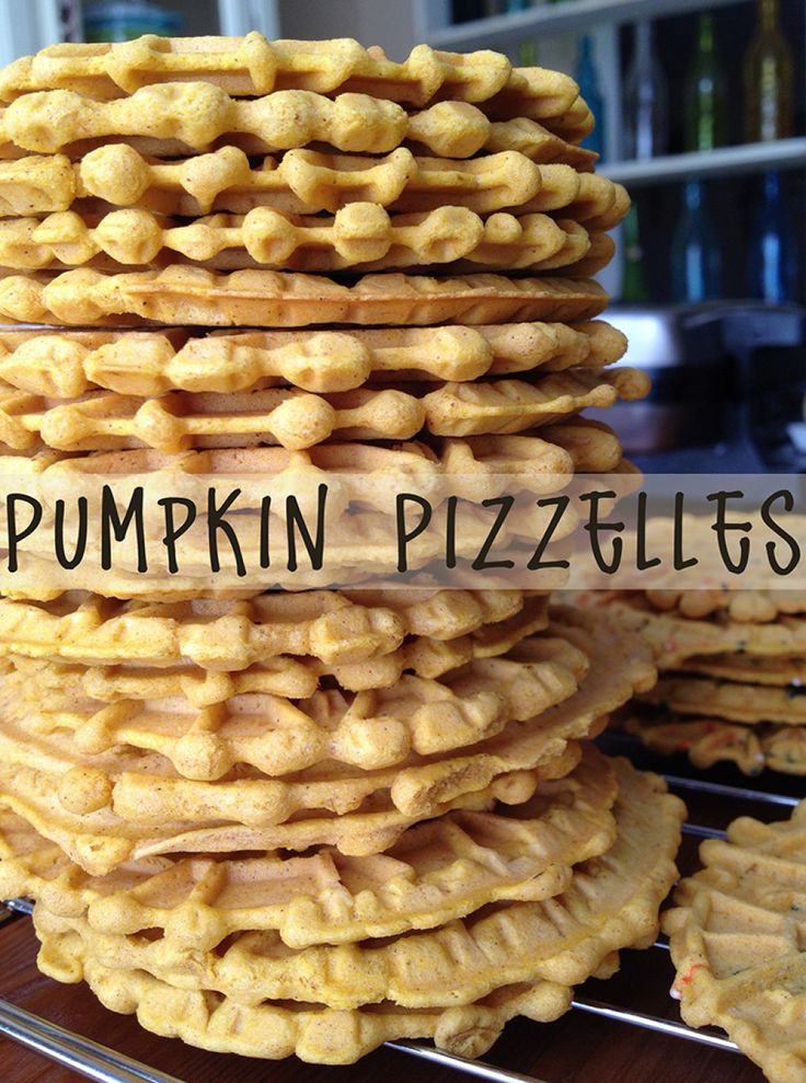 How to Make Pumpkin Pizzelle Cookies