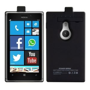 We are delighted to be able to bring to you this new flip cover style charging power case for your Nokia Lumia 925. Never find yourself short on power again, with this extended battery backup case you can have extra power at your fingertips on the move whilst protecting your phone from bumps and scrapes. With its faux leather flip cover you can protect your screen from scratches and damage with this stylish case. Perfect for all Nokia Lumia 925 owners offering a massive 2800 mAh of power.