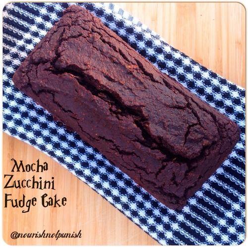 Paleo Mocha Fudge Cake