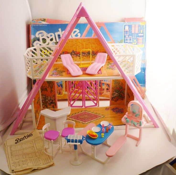 13 best images about barbie pool house on pinterest pool houses barbie house and find ebay for Barbie doll house with swimming pool