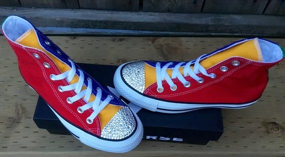 Rainbow Converse Multicolor High Tops