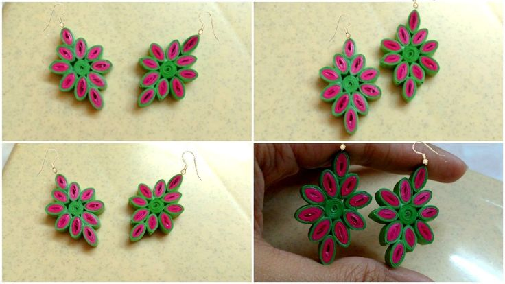 How to Make Easy Quilling Earring