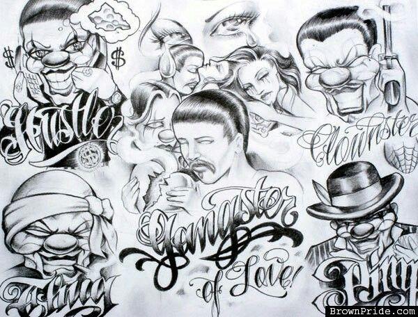 Gangster Mexican Styl Tattoo Tattoo Vorlagen