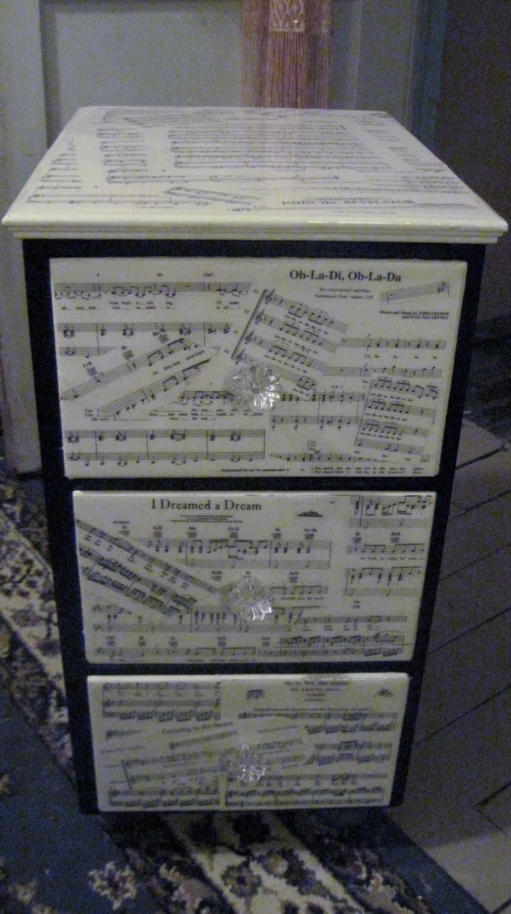 Exhibition Stand Night Sheet : Sheet music and an old night stand these are a few of my