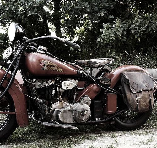 Vintage Indian Motorcycle::