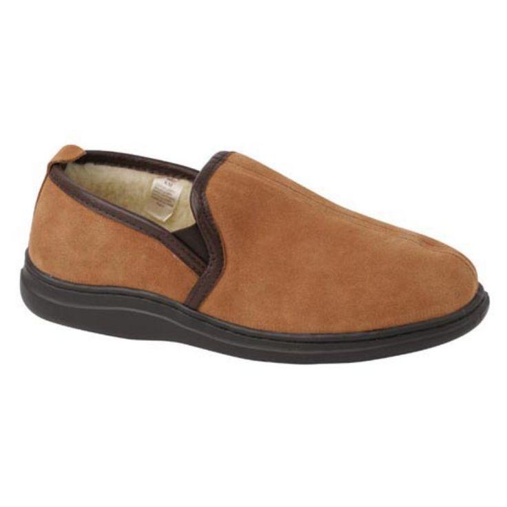 Klondike Mens Slip On Slippers in Saddle by L.B. Evans, Men's, Size: 11 - 9502-EEE-11