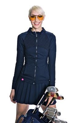 SCHRIFFEN Bow Show golf jacket in black- Stylish golf clothing for women