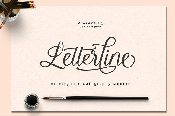 Letterline by cooldesignlab on @creativemarket