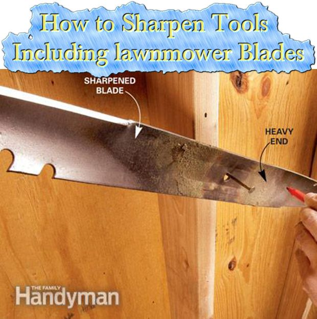 How to Sharpen Tools Including lawnmower Blades Read HERE --- > http://www.livinggreenandfrugally.com/how-to-sharpen-tools-such-as-lawnmower-blades/