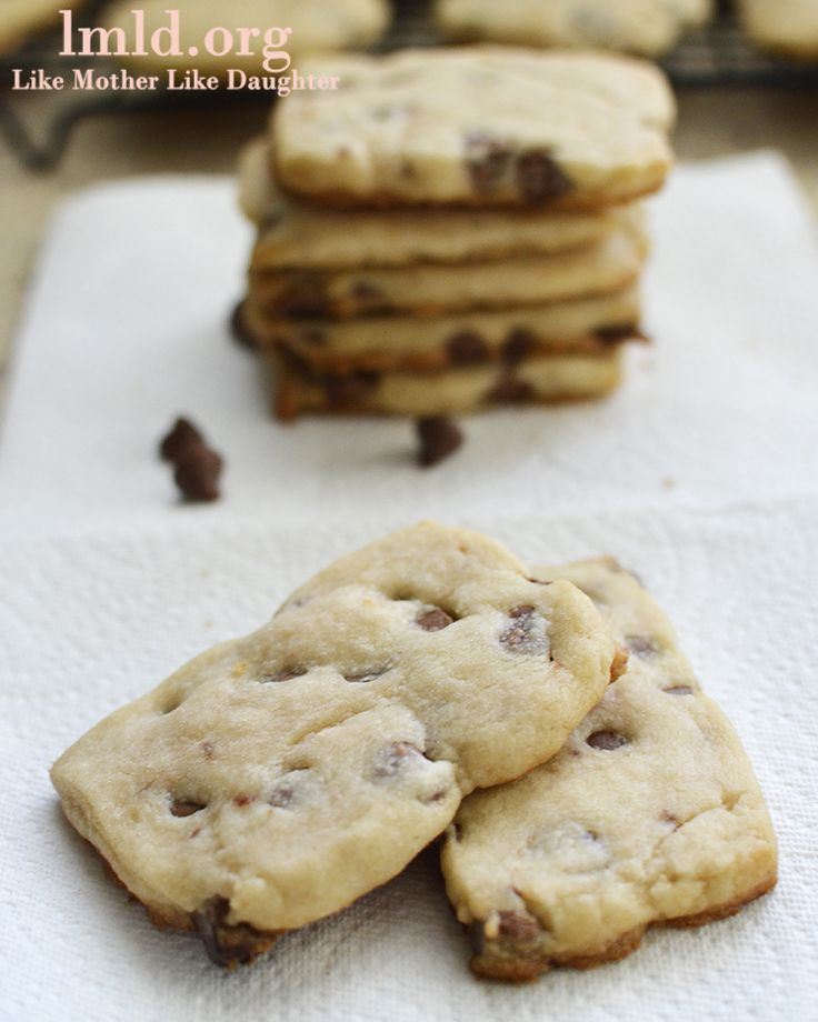 Chocolate chip short bread cookies! #cookies #recipe #lmldfood