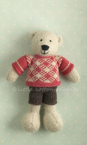 Knitted bear: Knits Bears, Knits Animal,  Teddy Bears, Knits Crochet, De Littlecottonrabbit, Animal Bears, Bunnies Bears, Photo, Little Cotton Rabbit