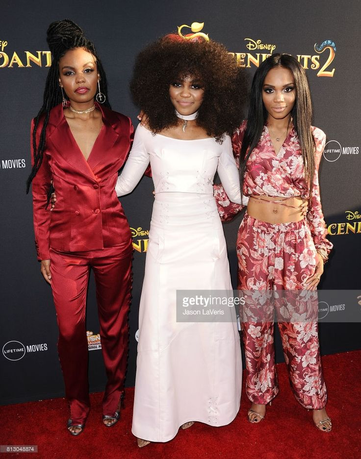 Actresses Sierra McClain, China Anne McClain and Lauryn McClain attend the premiere of 'Descendants 2' at The Cinerama Dome on July 11, 2017 in Los Angeles, California.